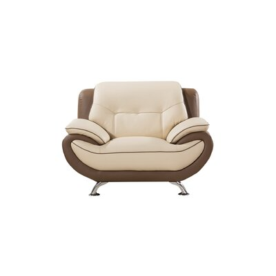 Vickrey Armchair Finish: Cream/Taupe