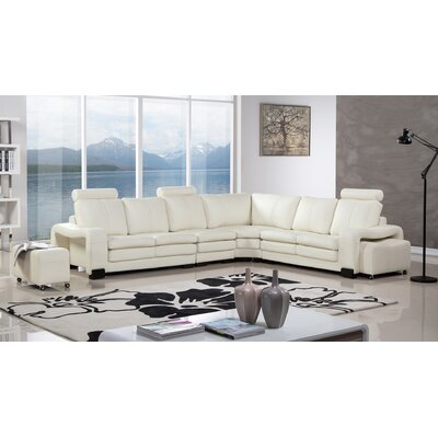 Hengrove Sectional with Ottoman Finish: Ivory