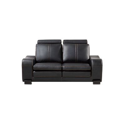 Vierra Modern Loveseat Finish: Black