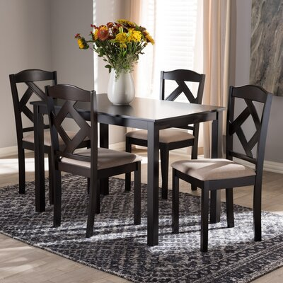 Goosman Modern and Contemporary 5 Piece Breakfast Nook Dining Set