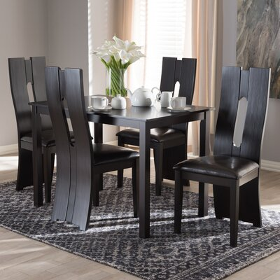 Onsted Modern and Contemporary 5 Piece Breakfast Nook Dining Set