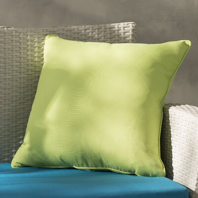 Lavonna Outdoor Throw Pillow Color: Apple Green, Size: 20