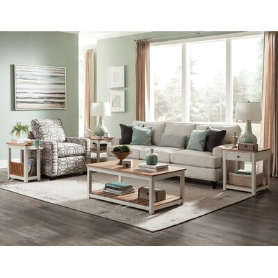 Gilmore 3 Piece Two Slat Coffee Table Set