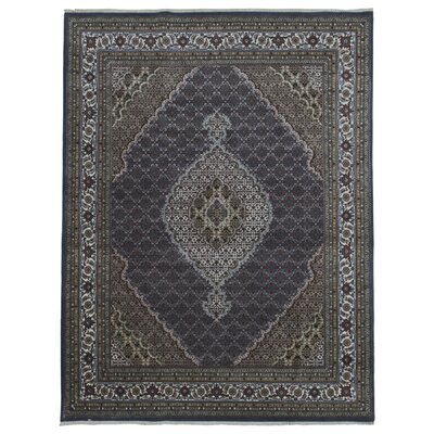 One-of-a-Kind Benjamin Hand-Woven Wool Green Area Rug