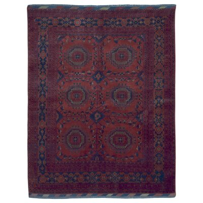 One-of-a-Kind Esperanza Khal Mohammadi Afghan Hand-Woven Wool Red Area Rug