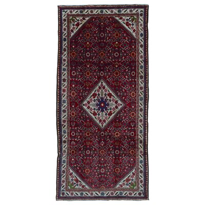 One-of-a-Kind Breonna Hand-Woven Wool Red Floral/Plant Area Rug