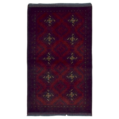 One-of-a-Kind Esperanza Khal Mohammadi Afghan Hand-Woven Wool Rectangle Red Area Rug