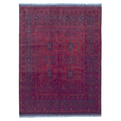 One-of-a-Kind Esperanza Khal Mohammadi Afghan Rug Hand-Woven Wool Red Area Rug