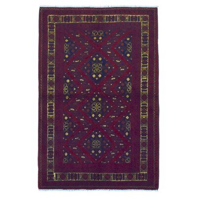 Esperanza Khal Mohammadi Afghan Fade Resistant Hand-Woven Wool Red Area Rug
