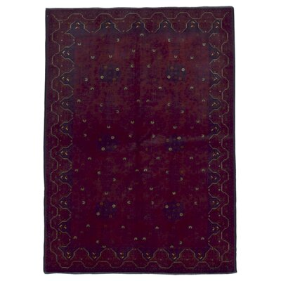 Esperanza Traditional Khal Mohammadi Afghan Geometric Hand-Woven Wool Red Area Rug