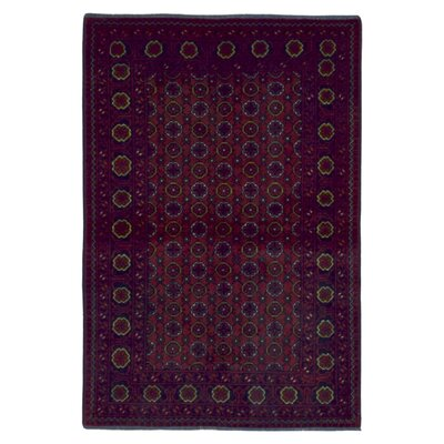 One-of-a-Kind Esperanza Traditional Khal Mohammadi Afghan Hand-Woven Wool Rectangle Red Area Rug