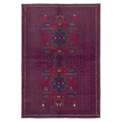 Esperanza Traditional Khal Mohammadi Afghan Fade Resistant Hand-Woven Wool Rectangle Red Area Rug