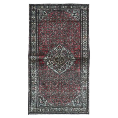 One-of-a-Kind Breonna Traditional Hamadan Hand-Woven Runner Wool Red Area Rug