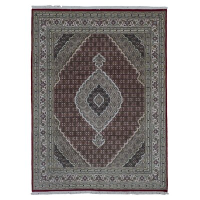One-of-a-Kind Benjamin Traditional Hand-Woven Wool Red Area Rug