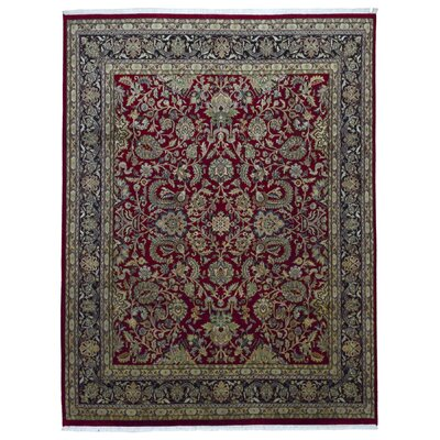 One-of-a-Kind Benningfield Oriental Hand-Woven Wool Red Area Rug