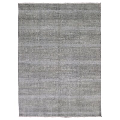 One-of-a-Kind Margate Modern and Rayon from Bamboo Silk Hand-Woven Wool Brown/Ivory Area Rug