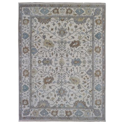 One-of-a-Kind Eward Hand-Woven Wool Beige Area Rug