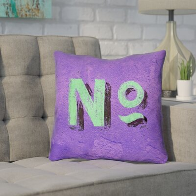 Enciso Graphic Wall Outdoor Pillow Size: 18 x 18, Color: Purple/Green