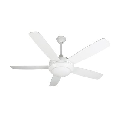 52 Frank 5 Blade LED Ceiling Fan Blade Finish: White