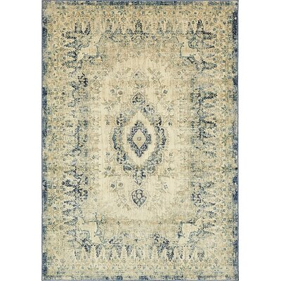 Jae Eclectic Beige Area Rug Rug Size: Rectangle 7 x 10