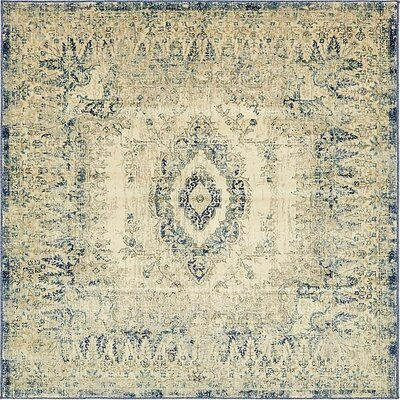 Jae Eclectic Beige Area Rug Rug Size: Square 6