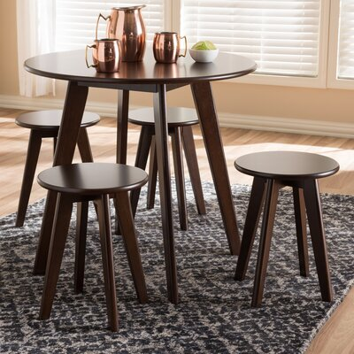 Watley Mid-Century Modern 5 Piece Breakfast Nook Dining Set