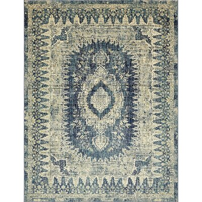 Jae Eclectic Navy Blue Area Rug Rug Size: Rectangle 6 x 9