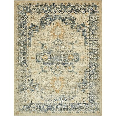 Jae Distressed Beige Area Rug Rug Size: Runner 3 x 13