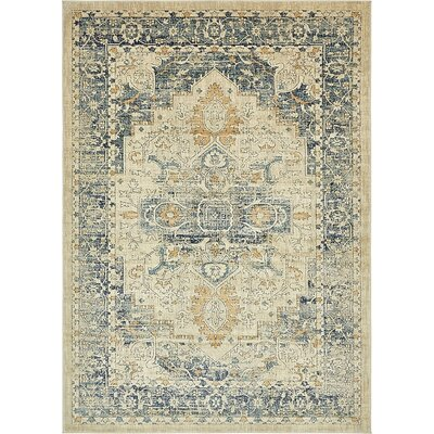 Jae Distressed Beige Area Rug Rug Size: Rectangle 8 x 11 4