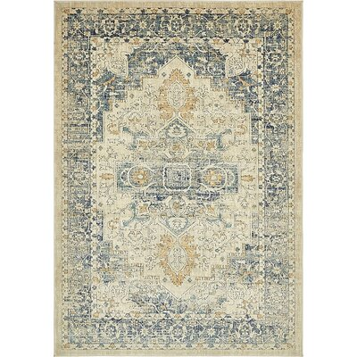 Jae Distressed Beige Area Rug Rug Size: Rectangle 7 x 10