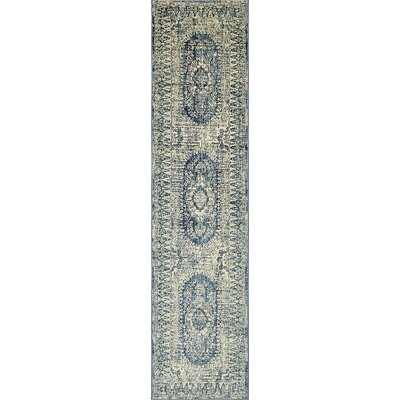 Jae Eclectic Navy Blue Area Rug Rug Size: Runner 3 x 13