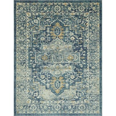 Jae Navy Blue Area Rug Rug Size: Runner 3 x 13