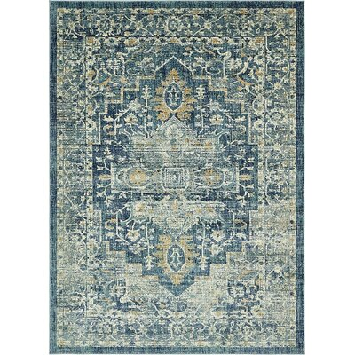Jae Navy Blue Area Rug Rug Size: Rectangle 8 x 11 4