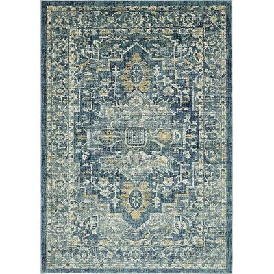 Jae Navy Blue Area Rug Rug Size: Rectangle 7 x 10