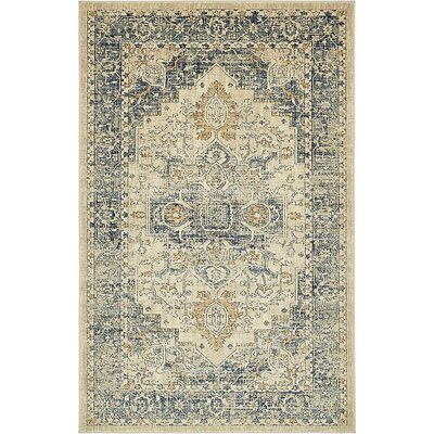 Jae Distressed Beige Area Rug Rug Size: Rectangle 5 x 8