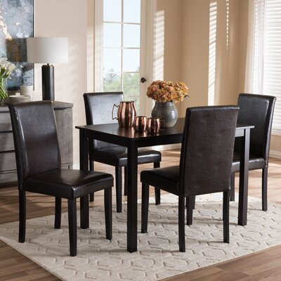 Parsley Modern and Contemporary 5 Piece Dining Set