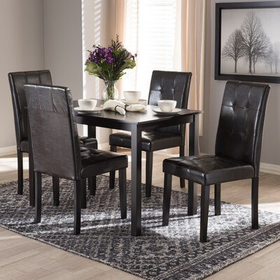 Rosenberry Modern and Contemporary 5 Piece Dining Set