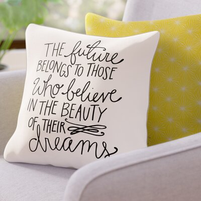 Sunset Point Beauty of Dreams Throw Pillow Size: 16 H x 16 W x 3 D