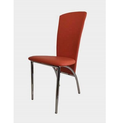 Hendley Upholstered Dining Chair (Set of 2) Upholstery Color: Orange
