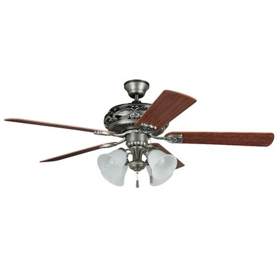 52 Troupsburg 5-Blade Ceiling Fan Blade Finish: Ash