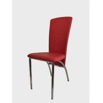 Hendley Upholstered Dining Chair (Set of 2) Upholstery Color: Red