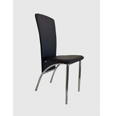 Hendley Upholstered Dining Chair (Set of 2) Upholstery Color: Black