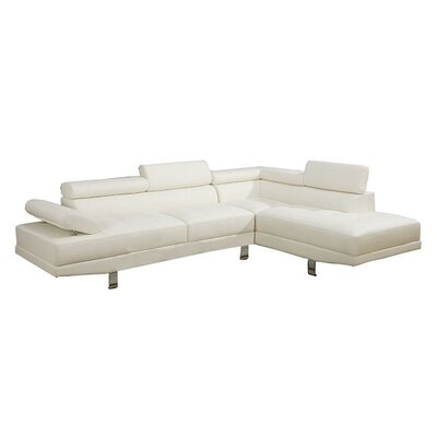 Helwig Sectional Upholstery: White, Orientation: Left Hand Facing