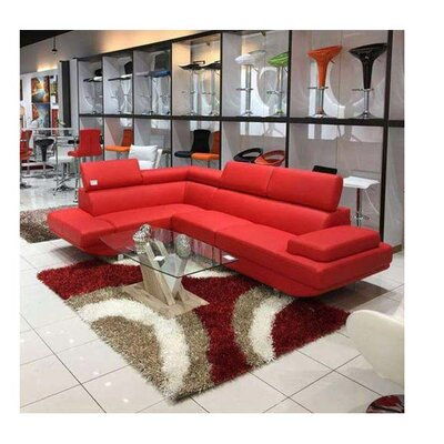 Helsel Excel Sectional Upholstery: Red, Orientation: Left Hand Facing