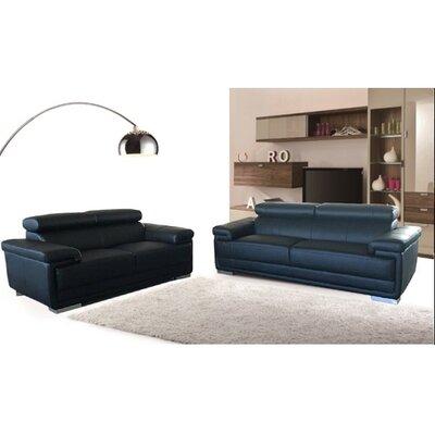 Hendren Configurable Living Room Set Upholstery: Black