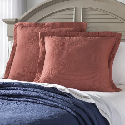 Bay Quilted European Sham Color: Cayenne