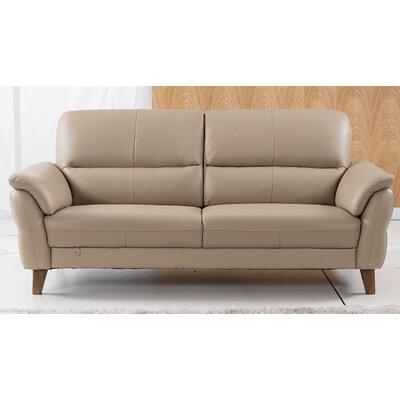 Shriner Leather Sofa Finish: Tan