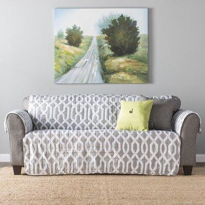 Caledonia Box Cushion Sofa Slipcover Upholstery: Gray