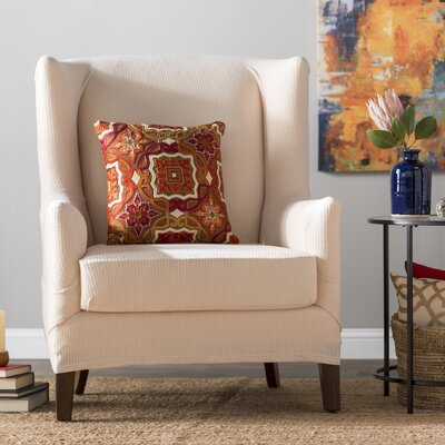 T-Cushion Wingback Slipcover Set Upholstery: Natural