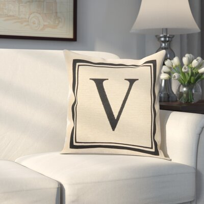 Beaver Creek Monogram Throw Pillow Letter: V